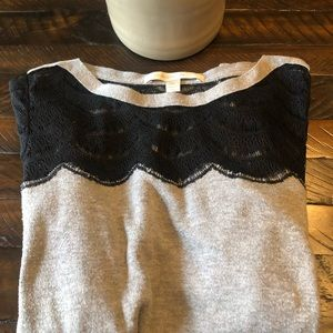 🌵Black/Grey with Lace Sweater